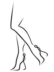 Abstract graceful women legs