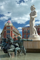 Statue of Apollo at Place Massena in Nice, France