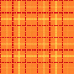 Bright orange seamless mesh pattern