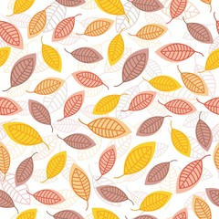 vector autumn leaf seamless pattern