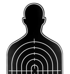 dart board in profile picture shape on white background