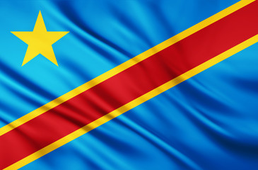 The National Flag of the Democratic Republic of the Congo