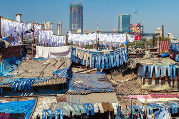 People at Dhobi Ghat, Mumbai, India