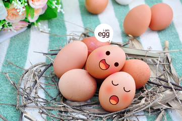 Eggs in Expression Face