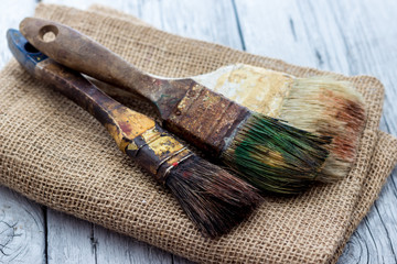 old paintbrushes used