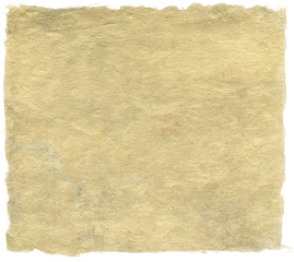 Japanese handmade paper isolated on white