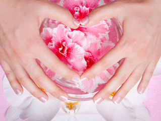 manicure and pedicure body care, spa treatments
