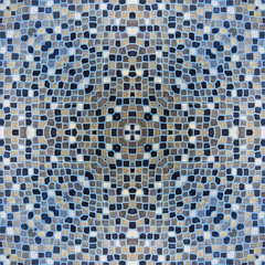 mosaic tiles in burgundy colour