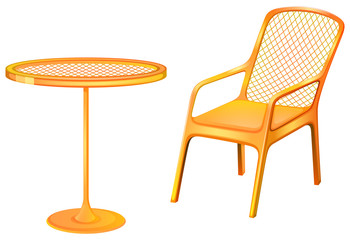 A table and chair furniture