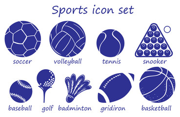 Different sports icon