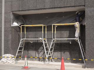 ビルの外壁工事
