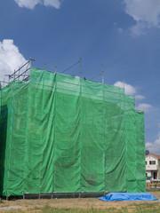 住宅建築現場