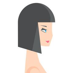 girl side profile