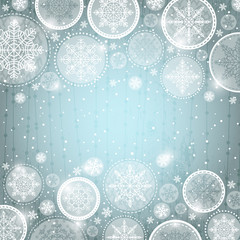 grey christmas background with snowflakes,  vector