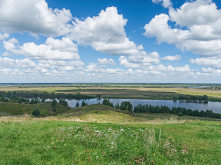 Meadows along the Oka River. Central Russia, Ryazan region