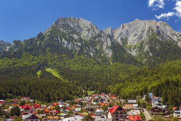 Summer mountain landscape, Busteni resort, Romania
