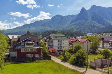Mountain landscape, Bucegi mountains, Busteni resort, Romania