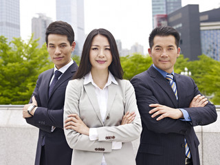 portrait asian business team