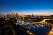 canvas print picture - Frankfurt blue hour