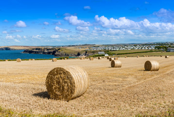 View from Trevose Head near Padstow Cornwall England