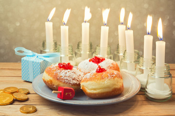 Jewish holiday Hanukkah celebration