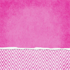 Square Pink and White Zigzag Chevron Torn Grunge Textured Backgr