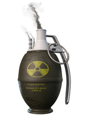 Atomic energy - bomb. Conceptual metaphoric 3d illustration