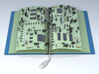Conceptual illustration. Digital Book - ebook