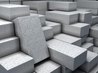 Warehouse with white bricks.