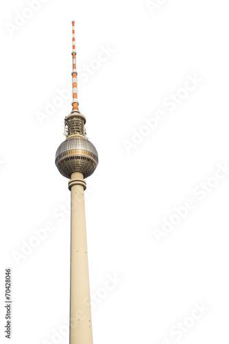 Leinwandbild Motiv Berliner Fernsehturm Freisteller 1
