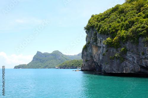 Leinwanddruck Bild coastline in Ang Thong National Marine Park, Thailand