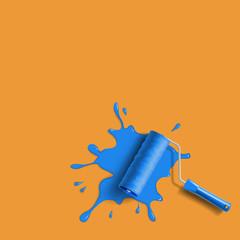 roller brush splash