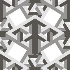 Geometric 3d seamless pattern, optical illusion