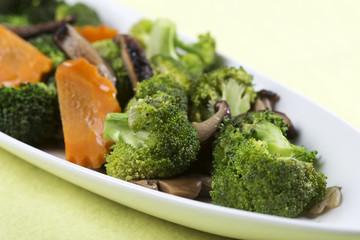 Stir fried Three vegetables (broccoli, mushroom, carrot)