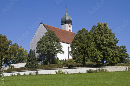 canvas print picture St. Ulrich in Seeg