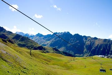 Sessellift in den Alpen