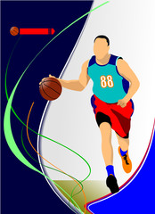 Basketball players. Vector illustration