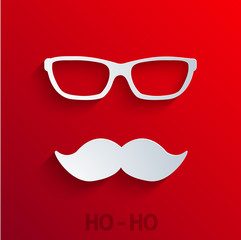 vector modern concept santa claus icon on red