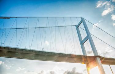 sunset and bridge