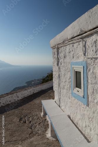 Leinwanddruck Bild Chapel Profitis Ilias