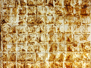 Scratched rusty metal surface