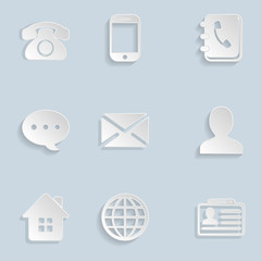 Contact Paper Icons Set