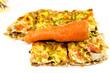 Frisch gebackene Pizza