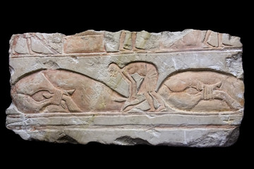 Ancient Egyptian relief of an animal sacrifice