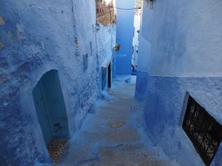 モロッコ 青い町