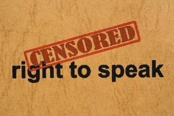 Censored right to speak