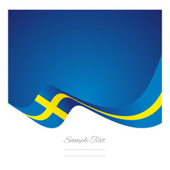Abstract Sweden flag ribbon vector