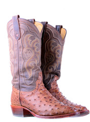 Ostrich Leather Boots