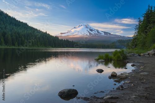 Poster Landschappen Volcano mountain Mt. Hood, in Oregon, USA.