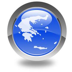 carte de la Grèce sur bouton